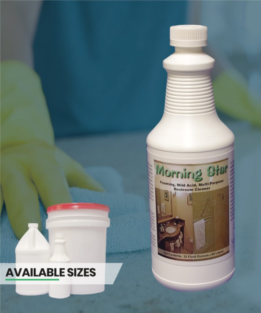 Morning Star foaming restroom and bathroom cleaner