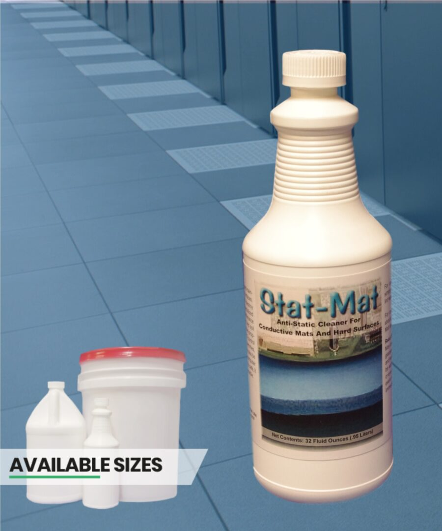Stat Mat anti-static cleaner for conductive mats and hard surfaces