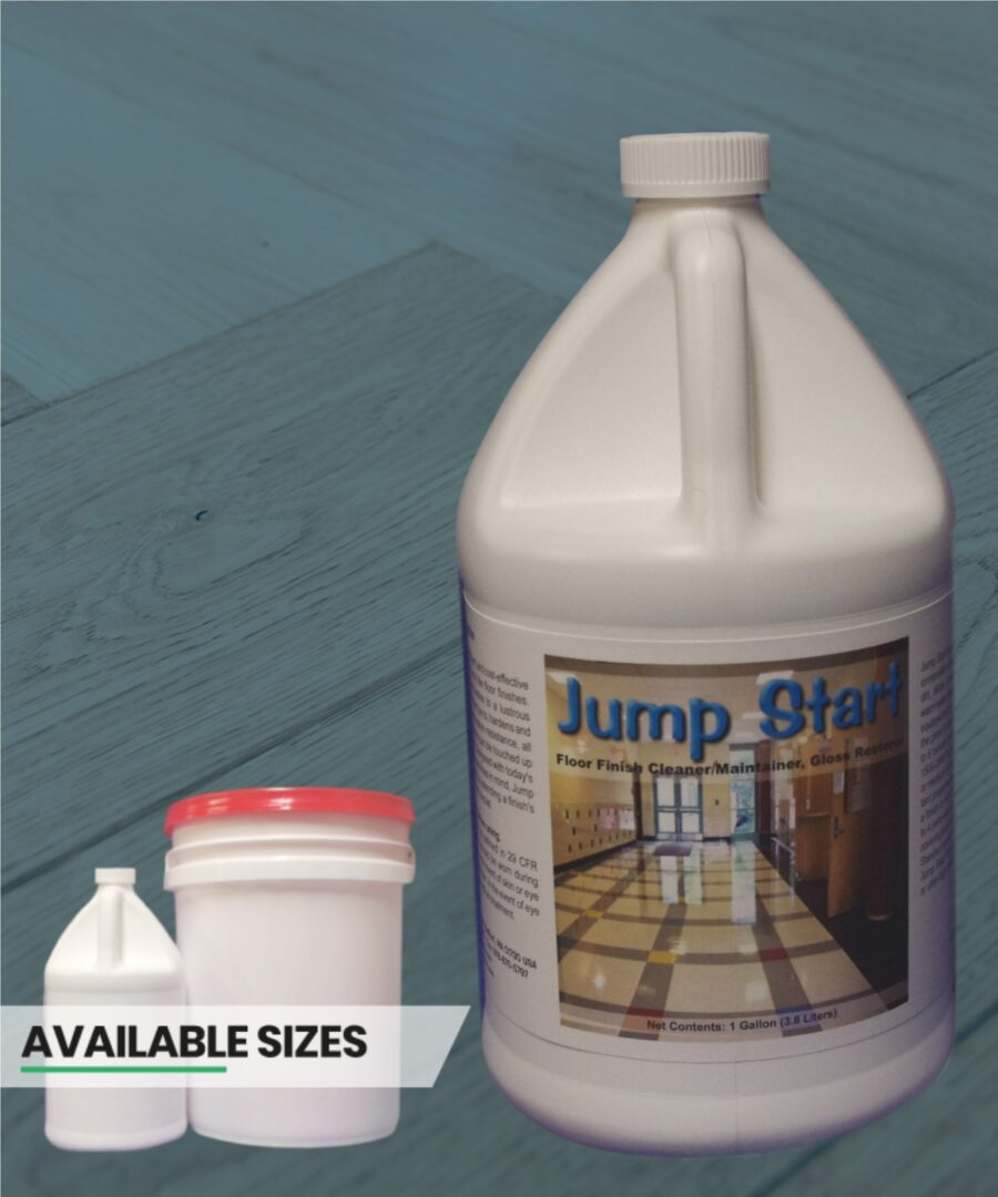 Jump Start floor finish cleaner and maintainer