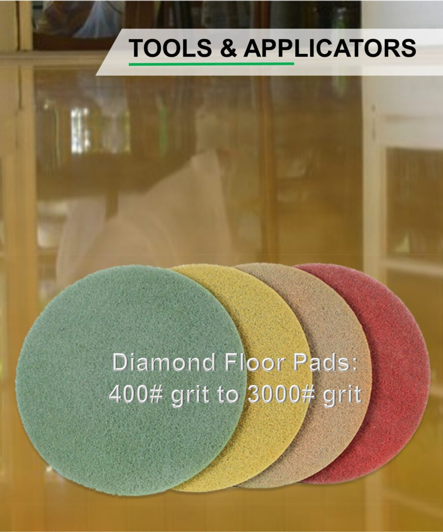 Diamond floor pads